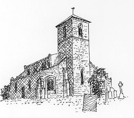 St Mary the Virgin Line Drawin